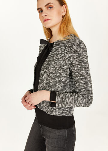 Cotton blend two-tone blazer
