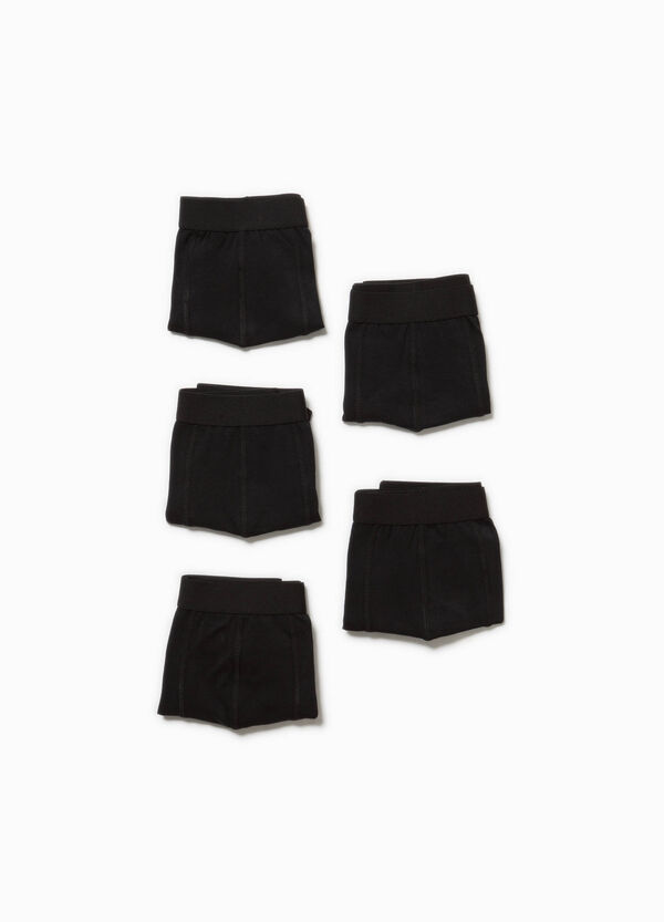 Five-pack stretch cotton boxer shorts | OVS
