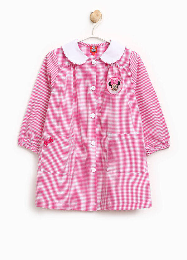 Micro check smock with Minnie Mouse patch | OVS