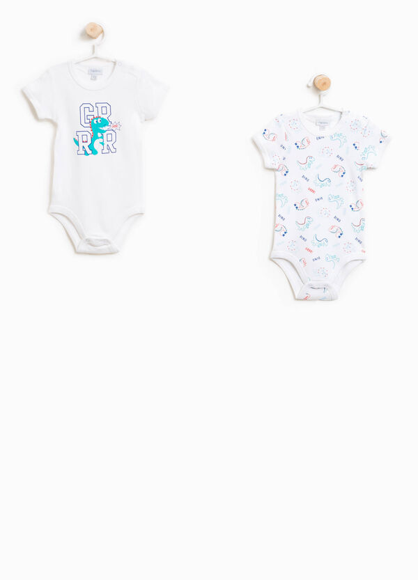 Two-pack patterned and printed bodysuits in cotton | OVS