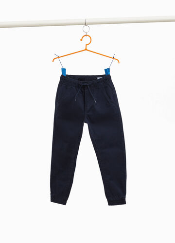100% cotton trousers with drawstring