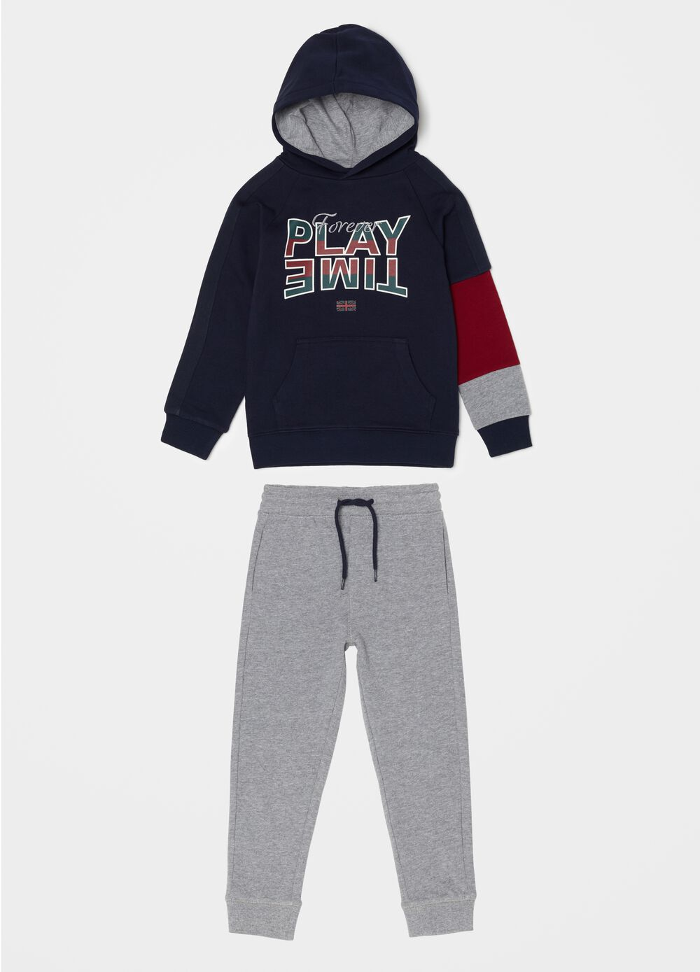 Top and trousers jogging set with print