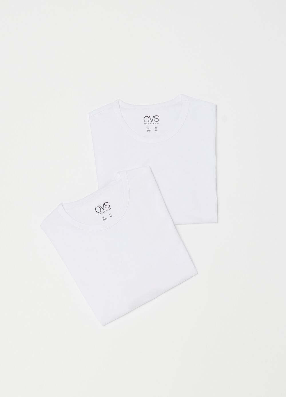 Two-pack solid colour undershirts