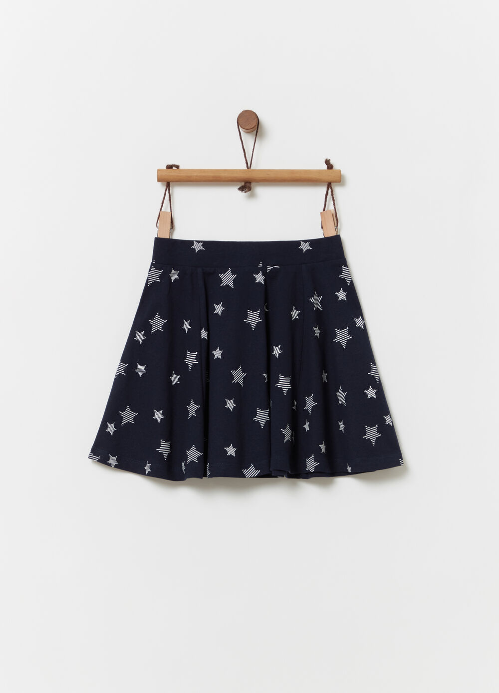 Skater skirt with all-over stars print