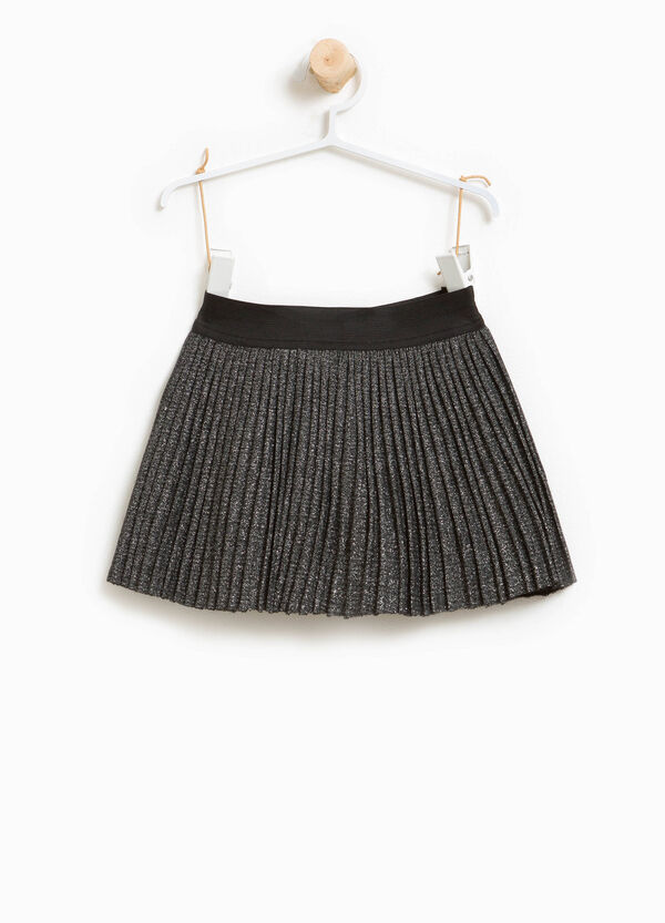 Pleated glitter skirt in viscose | OVS