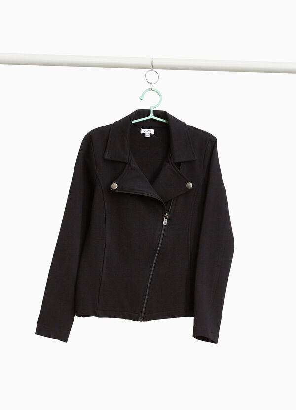 Jacket in 100% cotton with zip