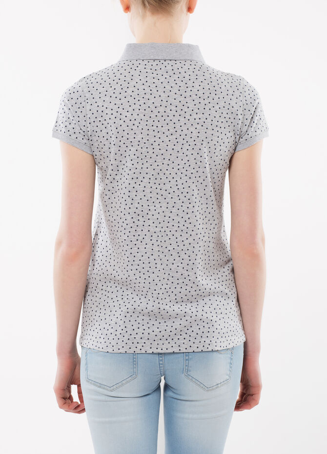 Polka dot polo shirt