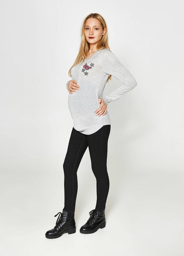 MUM cotton pullover with patch