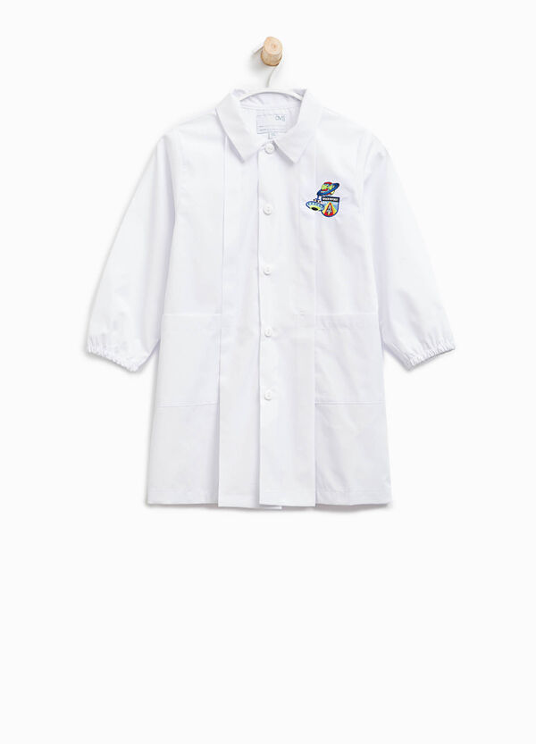 Cotton blend smock with patches | OVS