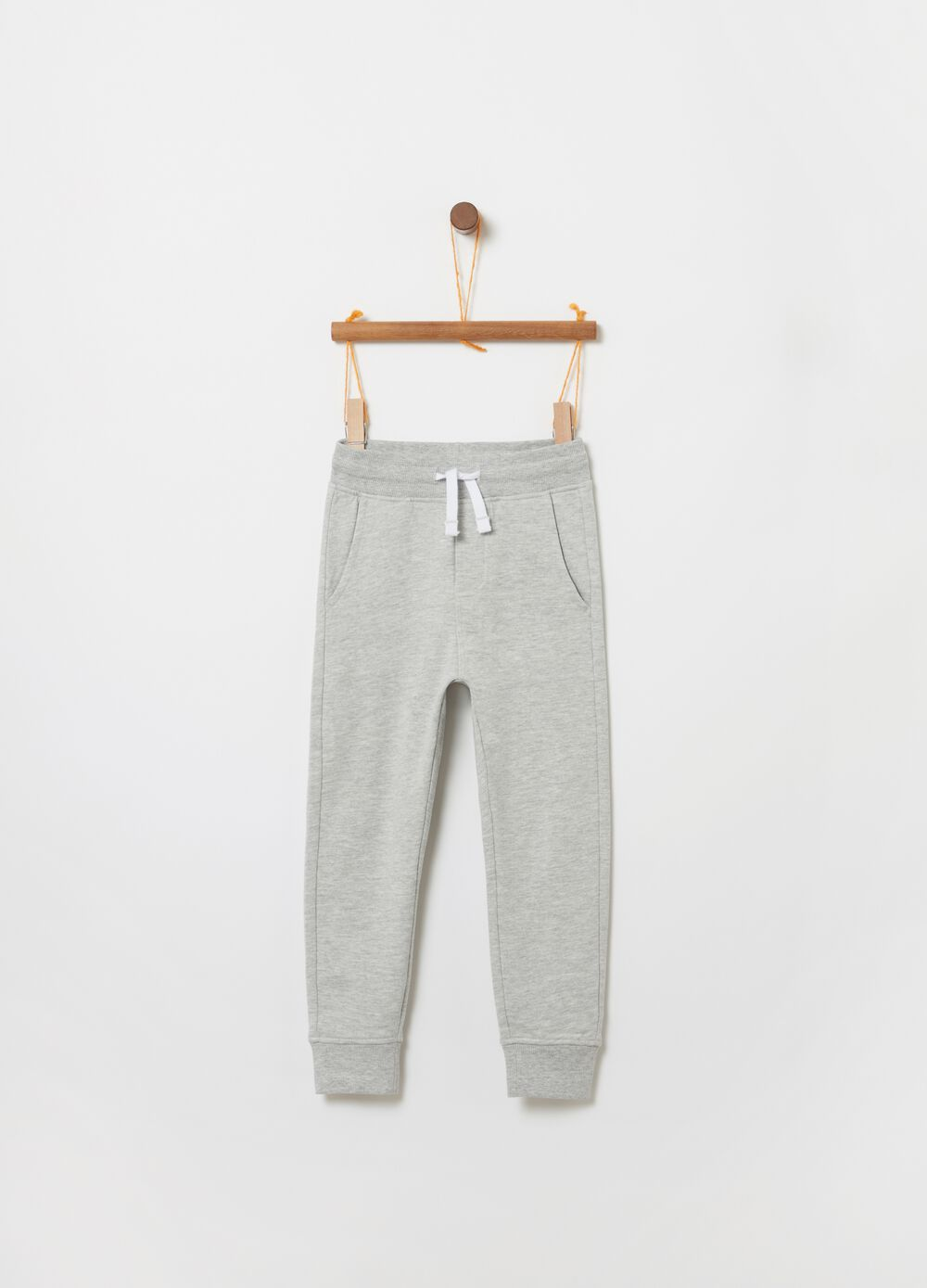 Fleece jogger trousers with pockets
