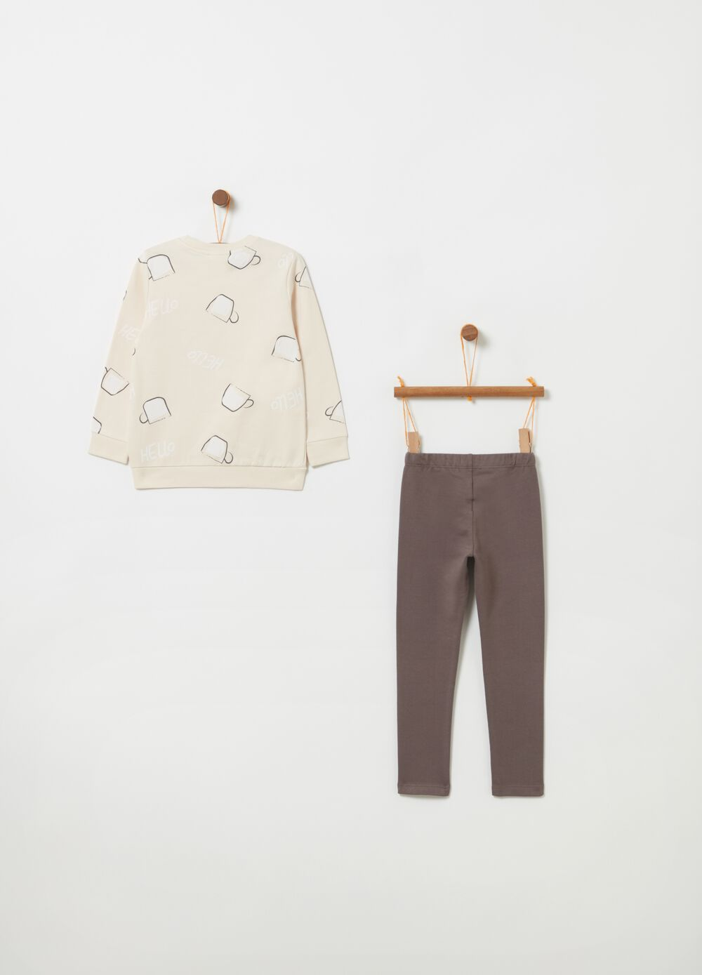 Puppy sweatshirt and trousers jogging set
