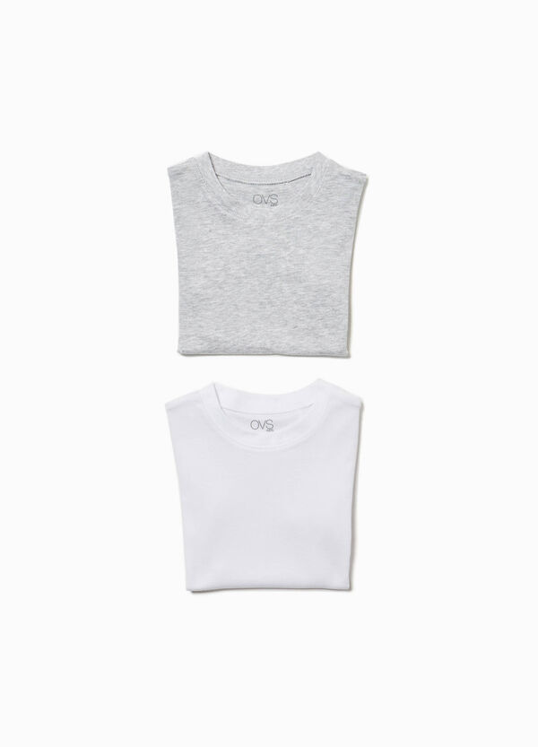 Two-pack 100% cotton underwear T-shirts