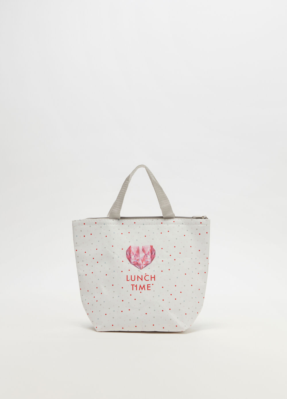 Lunch tote with handles, print and pattern