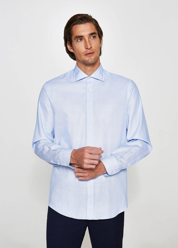 Camicia elegante regular fit geometrica