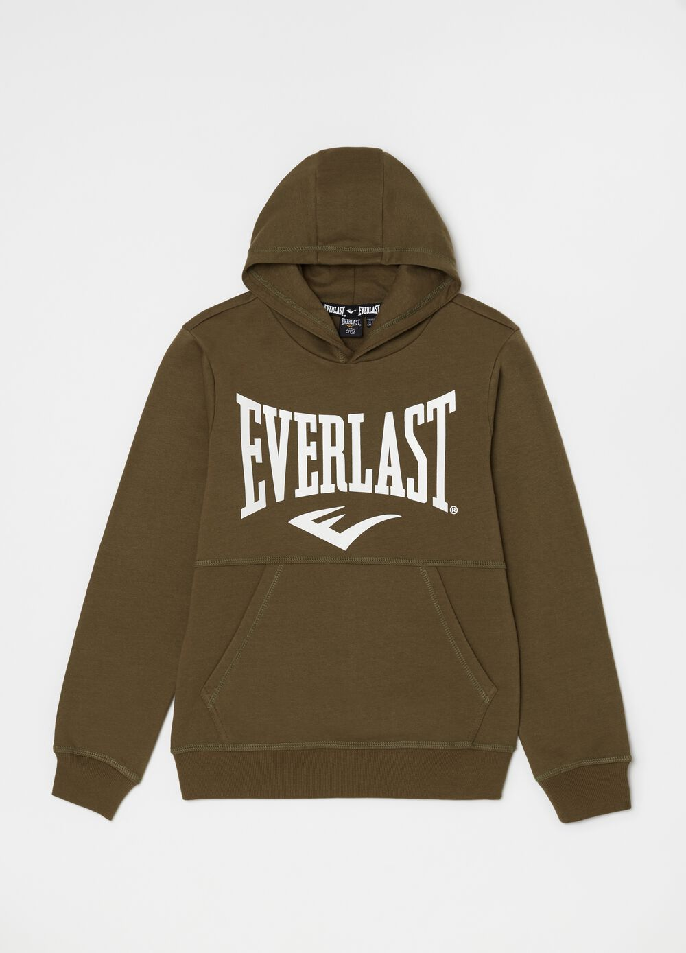 Round neck sweatshirt with Everlast print