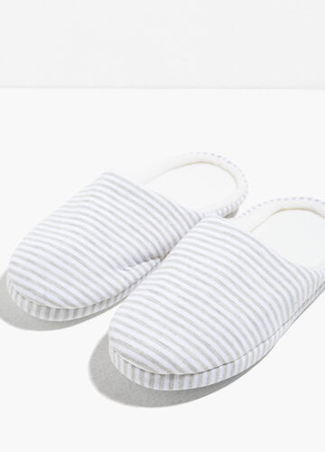 Striped slippers