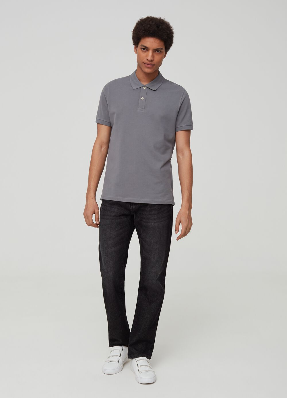 Polo shirt in 100% Pima cotton