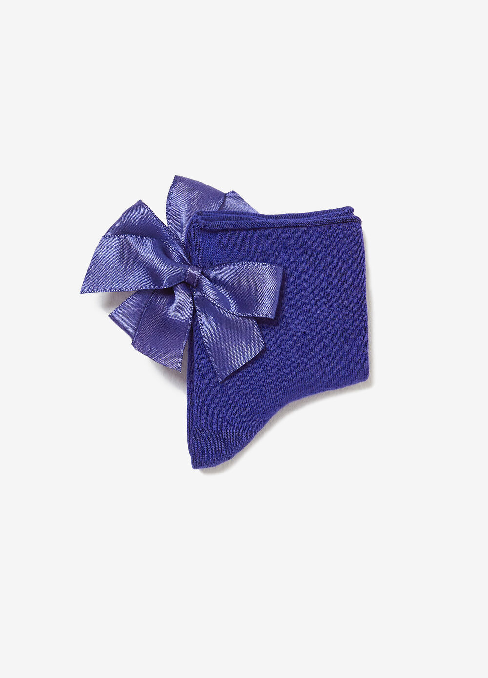 Short socks in stretch viscose with bow