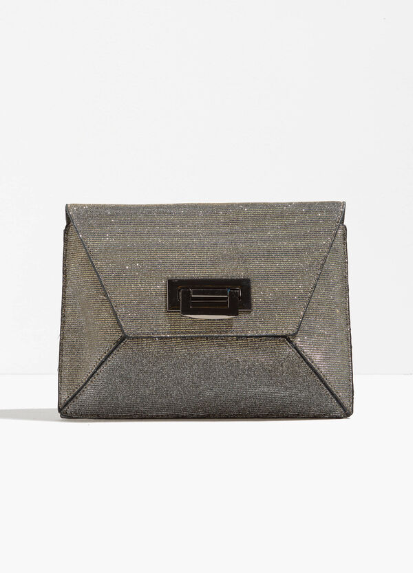 Glitter clutch bag with chain shoulder strap | OVS