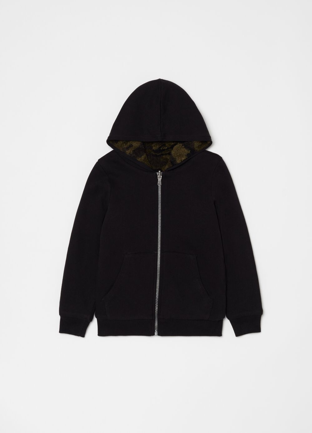 100% cotton hoodie with zip