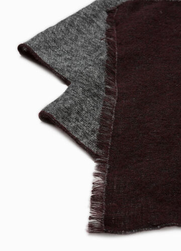 Solid colour pashmina with fringe