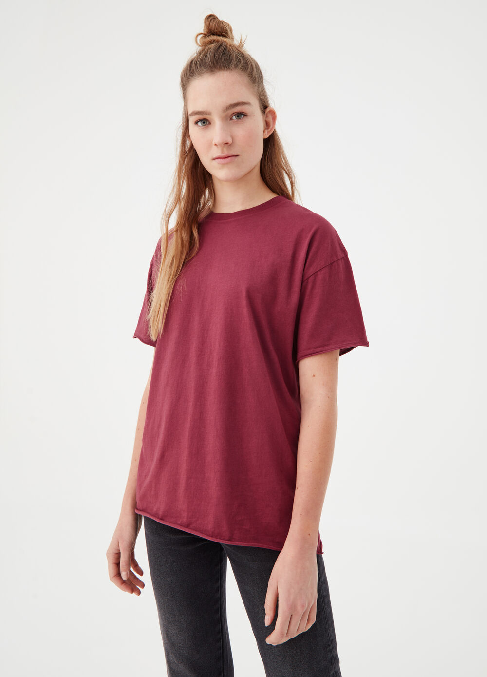 BCI 100% cotton T-shirt with round neck