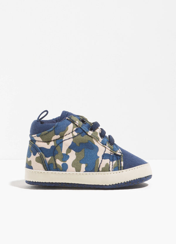 Sneakers with camouflage pattern