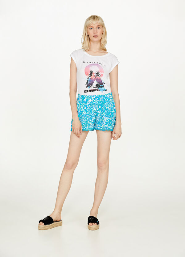 Floral cotton shorts by Maui and Sons