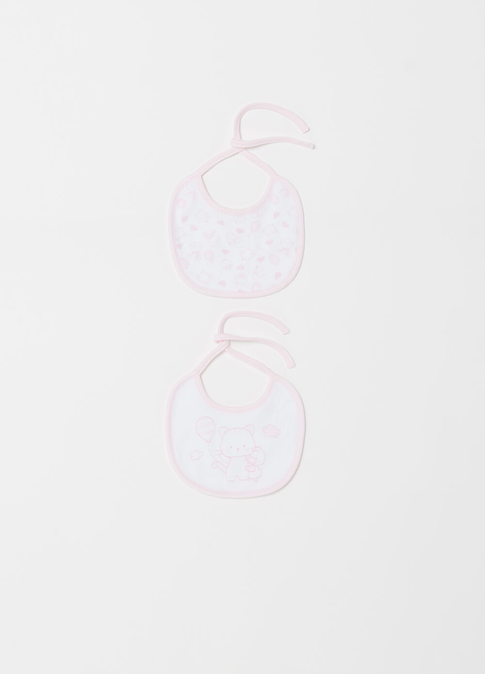Two-pack BCI bibs with print and pattern