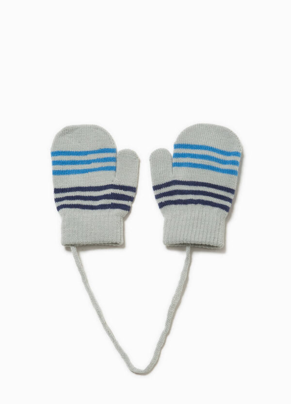 Striped knitted stretch mittens | OVS