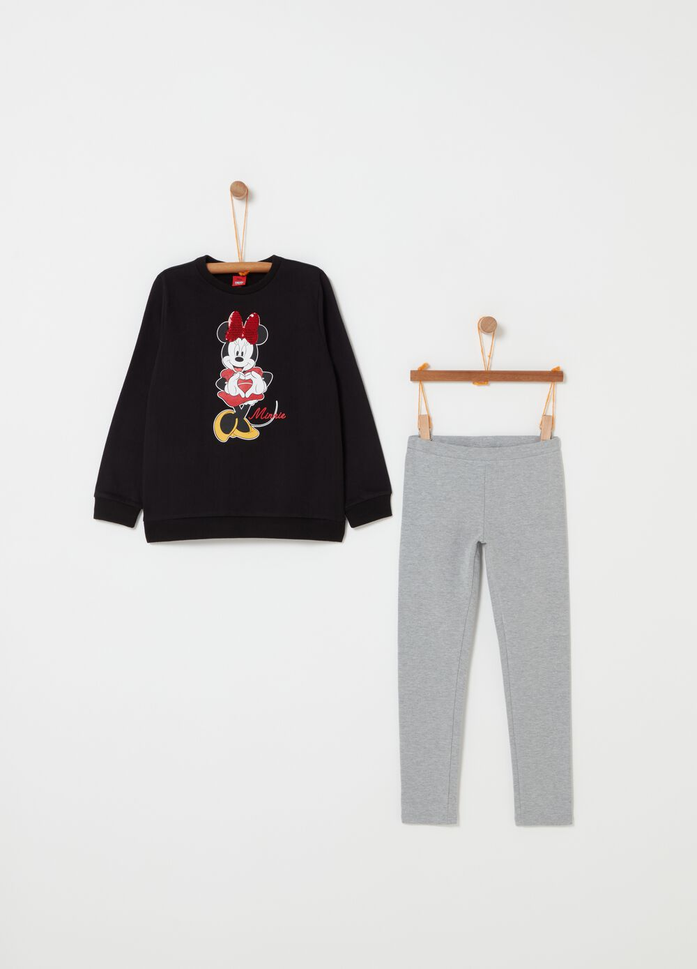 Disney Minnie Mouse jogging set with sequins