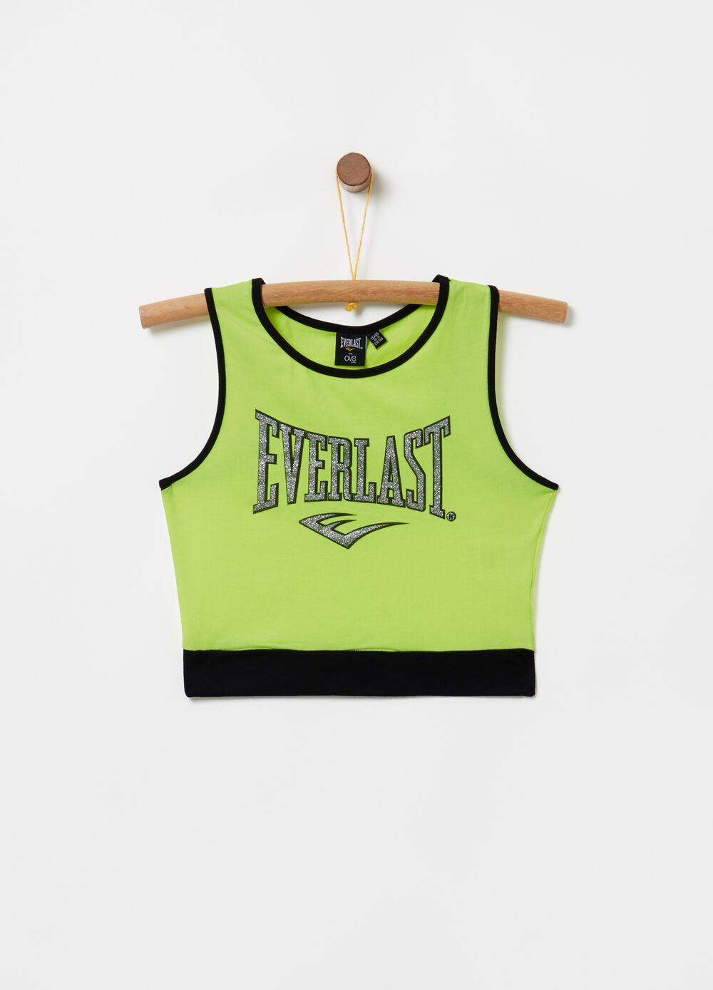 100% cotton tank top with Everlast print