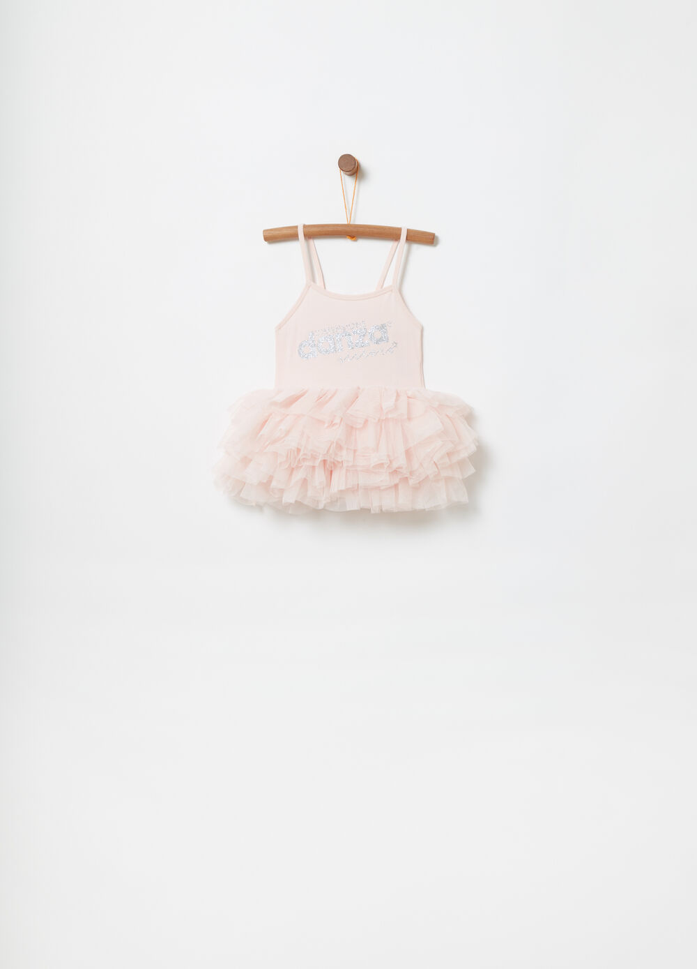 Sleeveless tutu with printed tulle