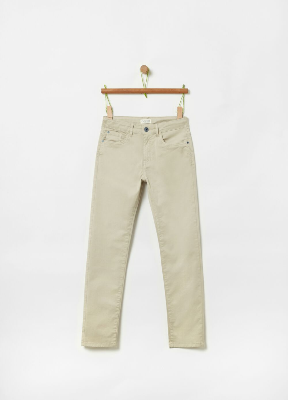 Organic cotton trousers with five pockets