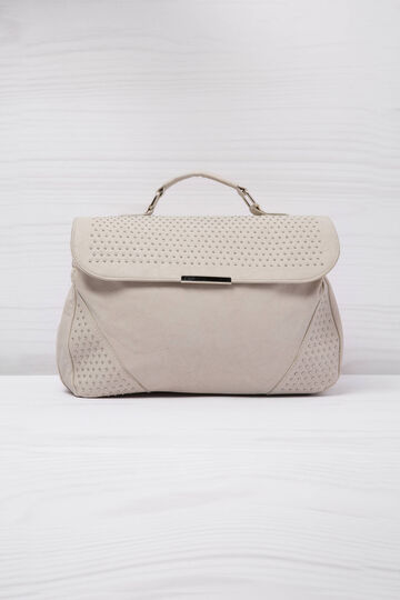 Faux leather handbag with studs