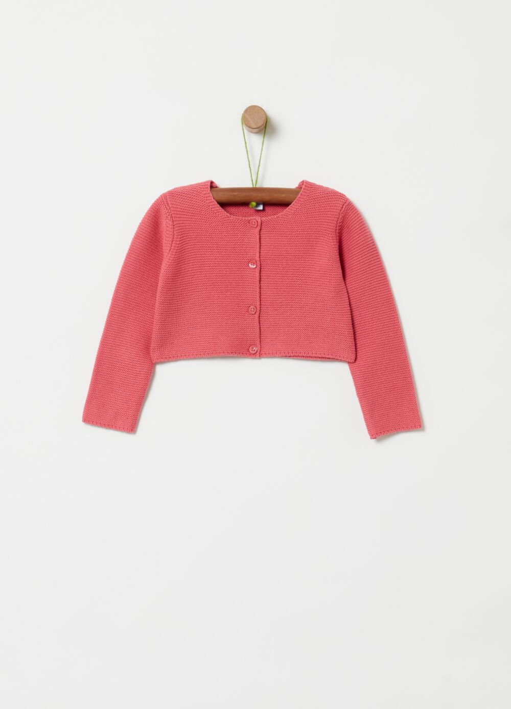 Crop cardigan in 100% organic cotton