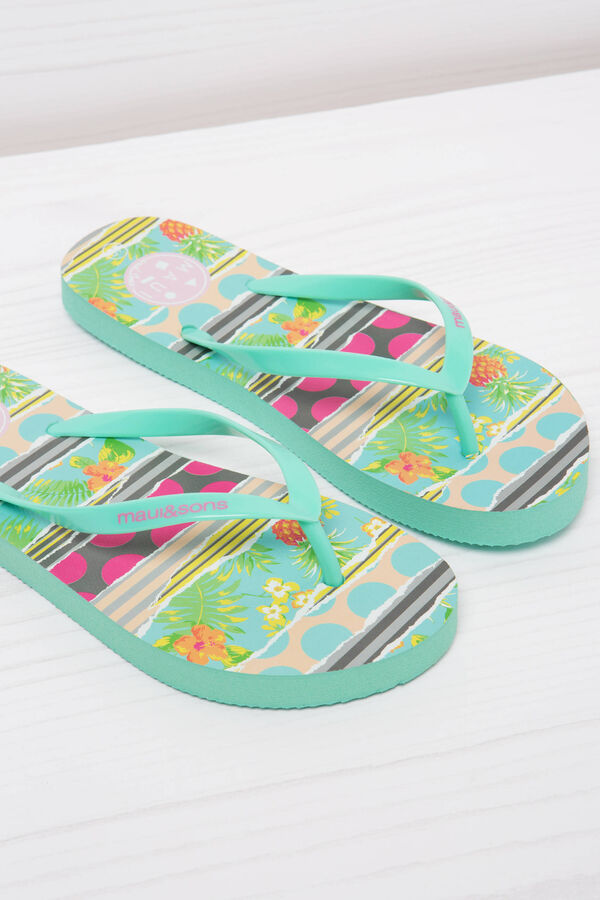 Printed thong sandals by Maui and Sons   OVS