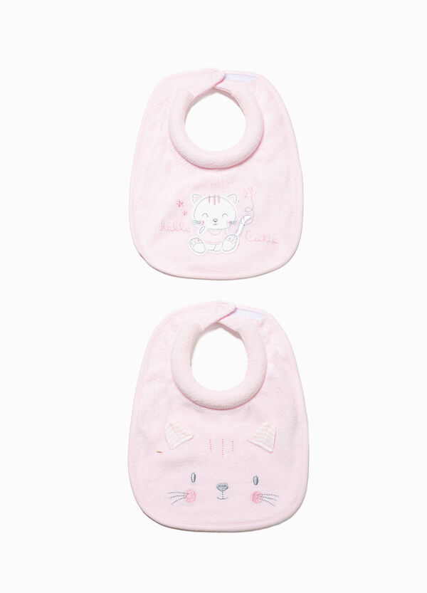Two-pack bibs with patches and ears | OVS