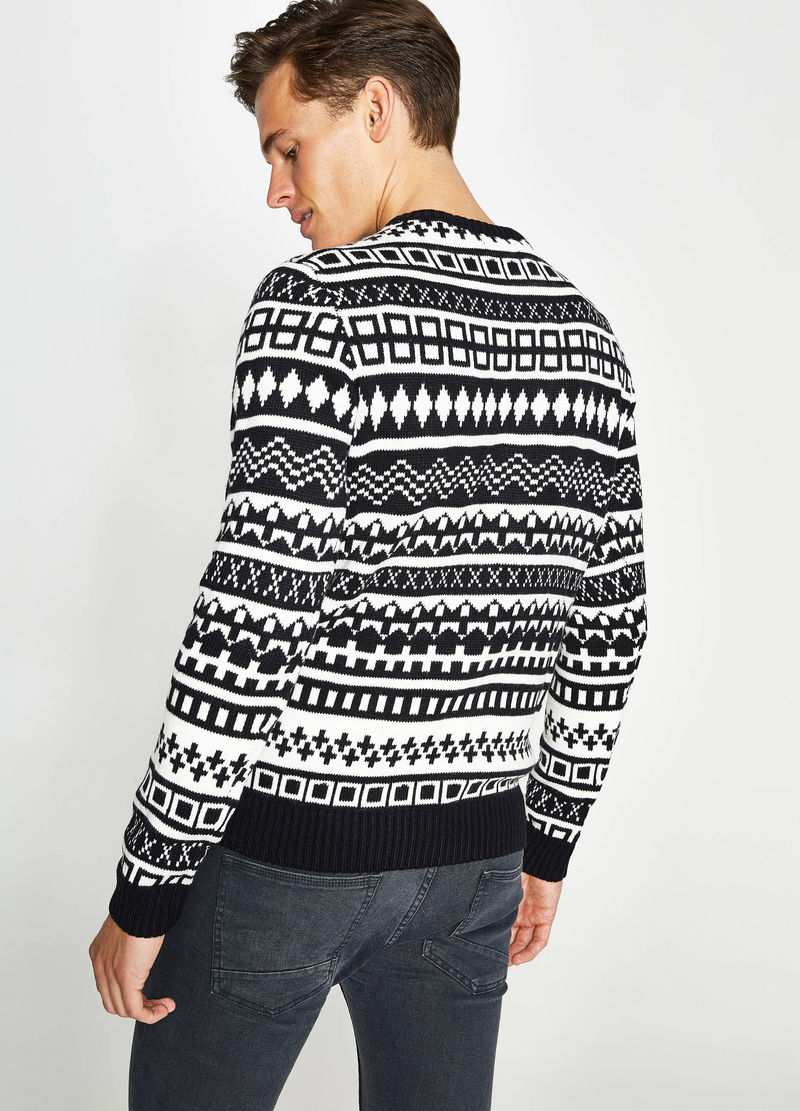 Pullover mit Jacquard-Verarbeitung Muster image number null