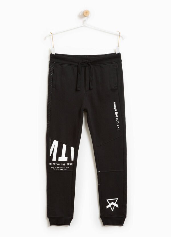 Printed joggers 100% cotton | OVS