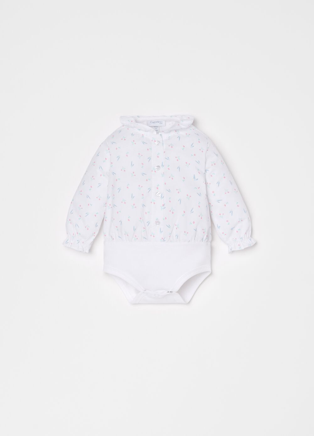 100% cotton bodysuit with floral print