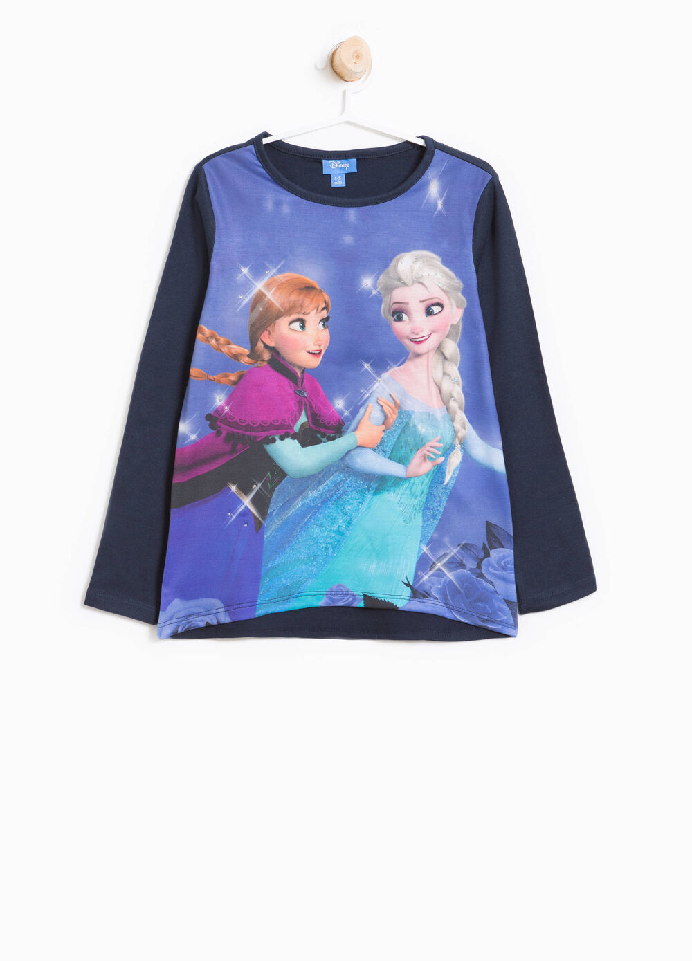 T-shirt with maxi Frozen print and diamanté motif