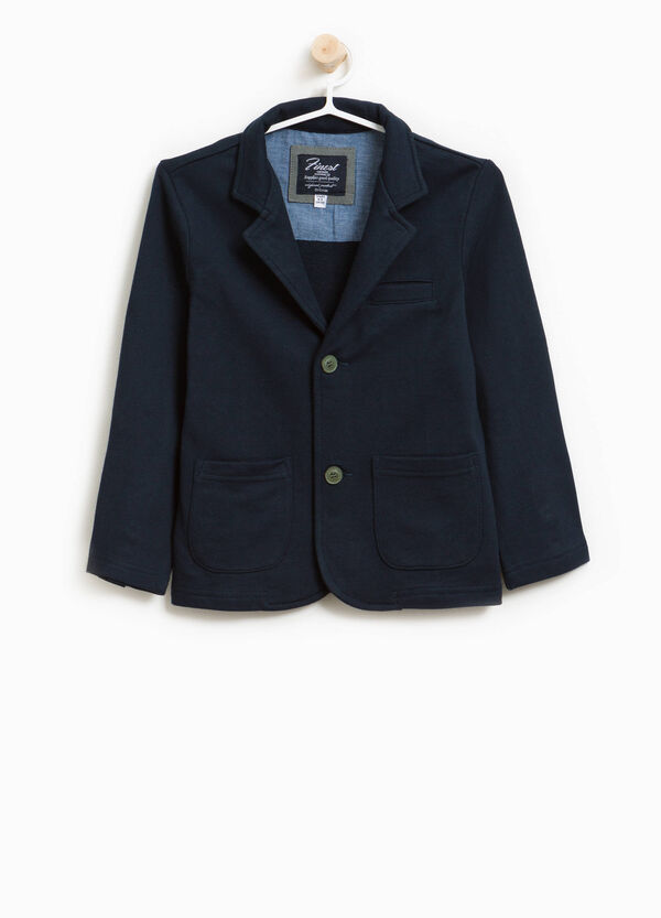 100% cotton jacket with two buttons
