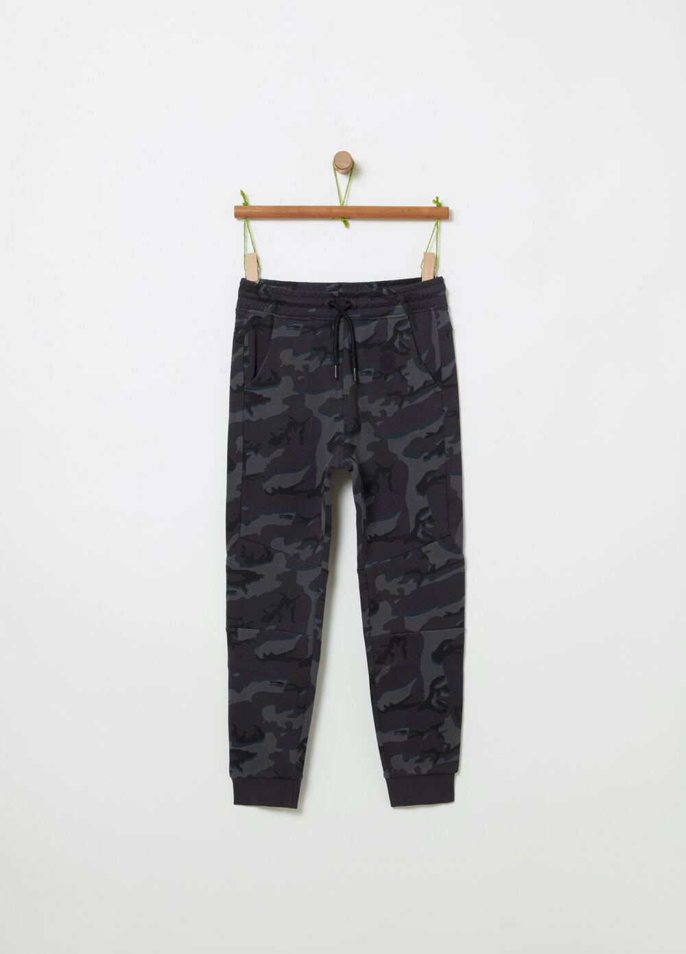French terry camouflage joggers