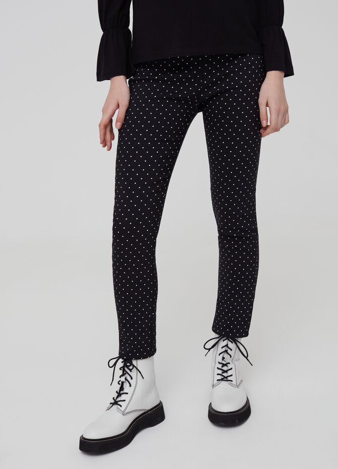 High waisted trousers with pattern