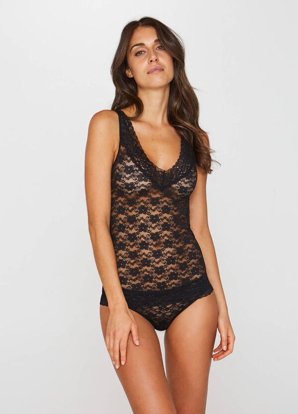 Stretch lace under top | OVS