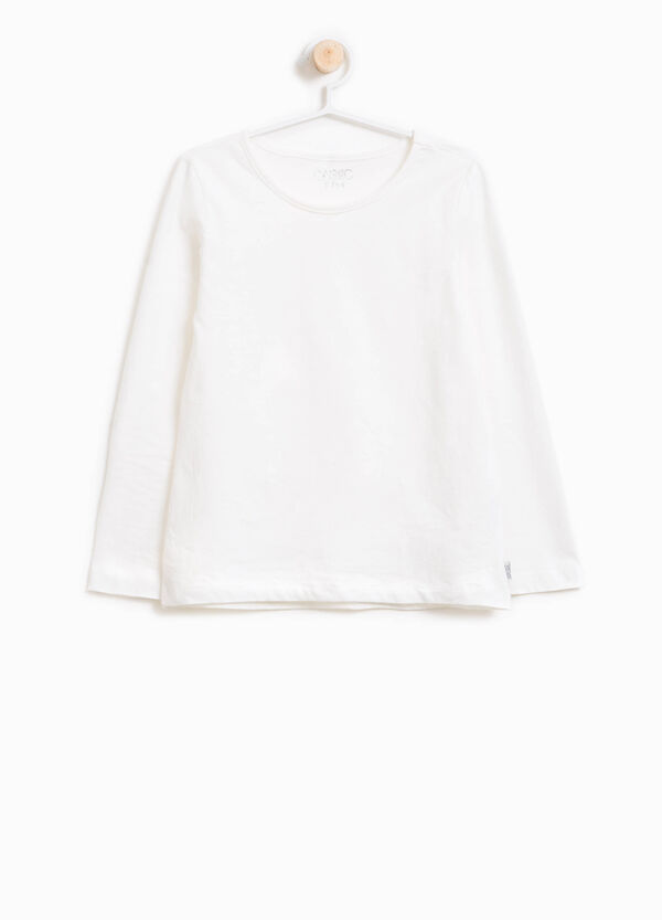 100% cotton T-shirt with crew neck