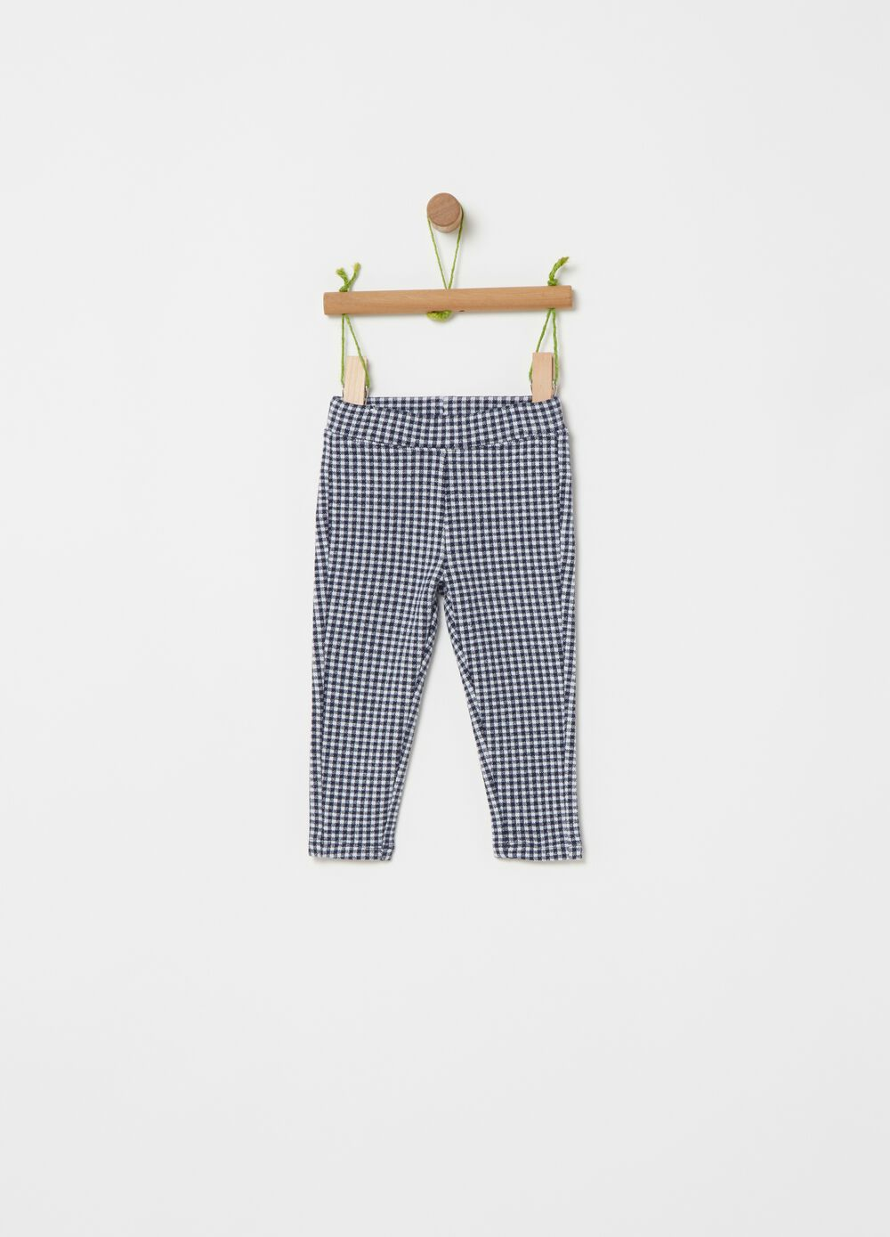Organic cotton check leggings