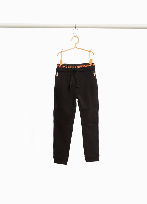 100% cotton joggers with zip