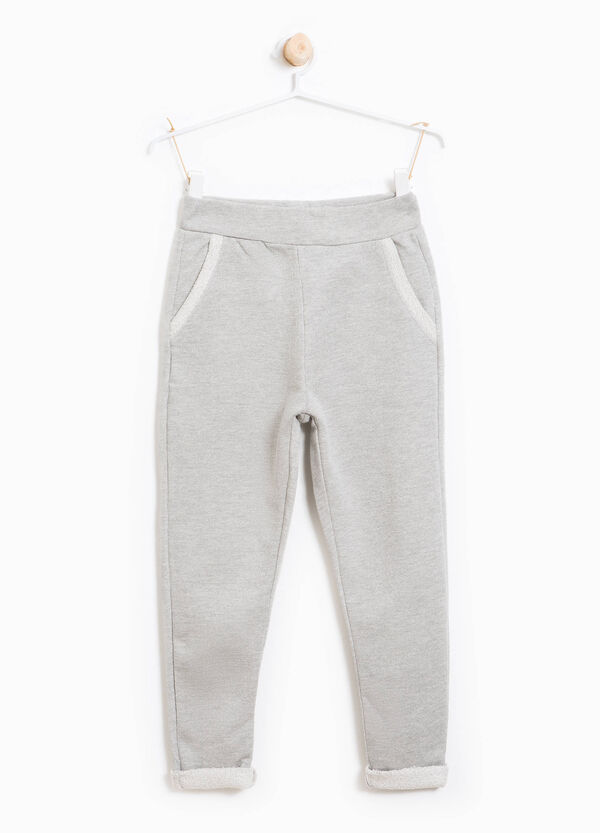 Cotton joggers with lurex and pockets | OVS